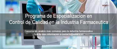 Diploma control de calidad en la industria farmaceutica evilaf